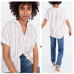 Madewell Central Oversized Shirt in Sadie Stripe